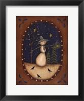 Framed Snowman Lantern