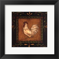 Framed Square Rooster Left