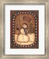 Framed Joy Snowman