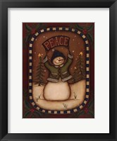 Framed Peace Snowman