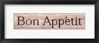 Framed Bon Appetit Distressed