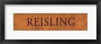 Framed Reisling