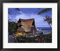 Framed Hawaiian Hideaway