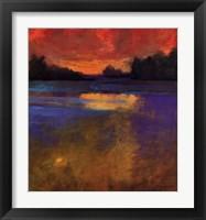 Framed Sunset Lake