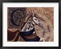 Framed Carousel Horses I