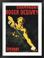 Framed Champagne Roger Desivry