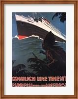 Framed Cosulich Line Trieste