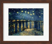 Framed Starry Night over the Rhone, c.1888