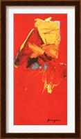 Framed Triptyque Rouge III