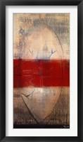 Framed Lignes Rouges I