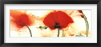 Framed Coquelicots Au Vent III