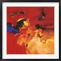 Rouge - Bleu Framed Print