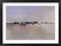 Framed Paysage Bleu I