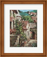 Framed Italian Country Village I