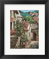 Framed Italian Country Village I