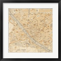 Framed Mapa Di Firenze, 1896