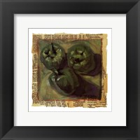 Three Green Peppers Framed Print