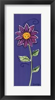 Framed Purple Daisy