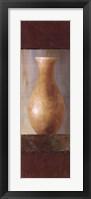 Rustic Gold Flower Vase II Framed Print