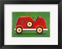 Framed Red Racing Car