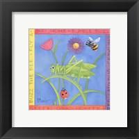 Framed Green Grasshopper