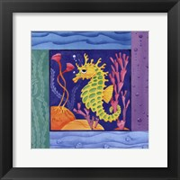 Framed Seafriends-Seahorse