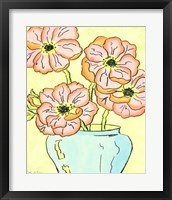 Framed Whimsical Flowers I