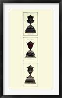 Framed Urns on Pedestals II