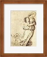 Framed Sepia Woman Dancing