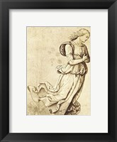 Framed Sepia Woman Dancing