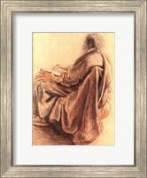 Framed Sepia Man Reading