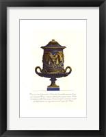 Framed Blue Urn I