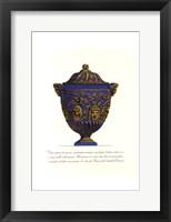 Framed Blue Urn III