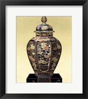 Framed Oriental Blue Vase II