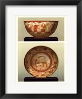 Framed Oriental Bowl and Plate II