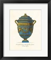 Framed Blue Urn IV