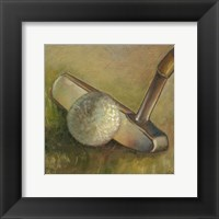 The Putter (P) Framed Print