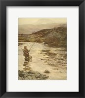 Framed Trout Fishing