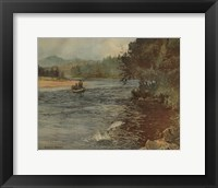 Framed Salmon Fishing