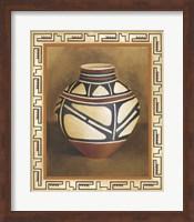 Framed Southwest Pottery I
