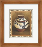 Framed Southwest Pottery I