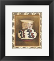 Framed Southwest Pottery III