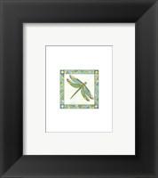 Framed Mini Luminous Dragonfly I