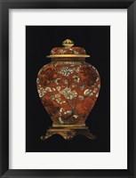 Framed Red Porcelain Vase (P) II