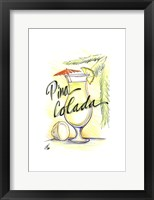 Framed Drink up...Pina Colada