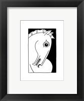 Framed Chevaux d' Homme I