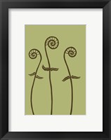 Framed Dichromatic Fiddleheads I