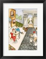 Parisian Holiday II Framed Print