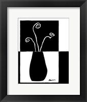 Framed Minimalist Flower in Vase I