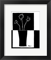 Framed Minimalist Flower in Vase II